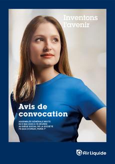 """Couverture - """"Avis de convocation 2020"""""""