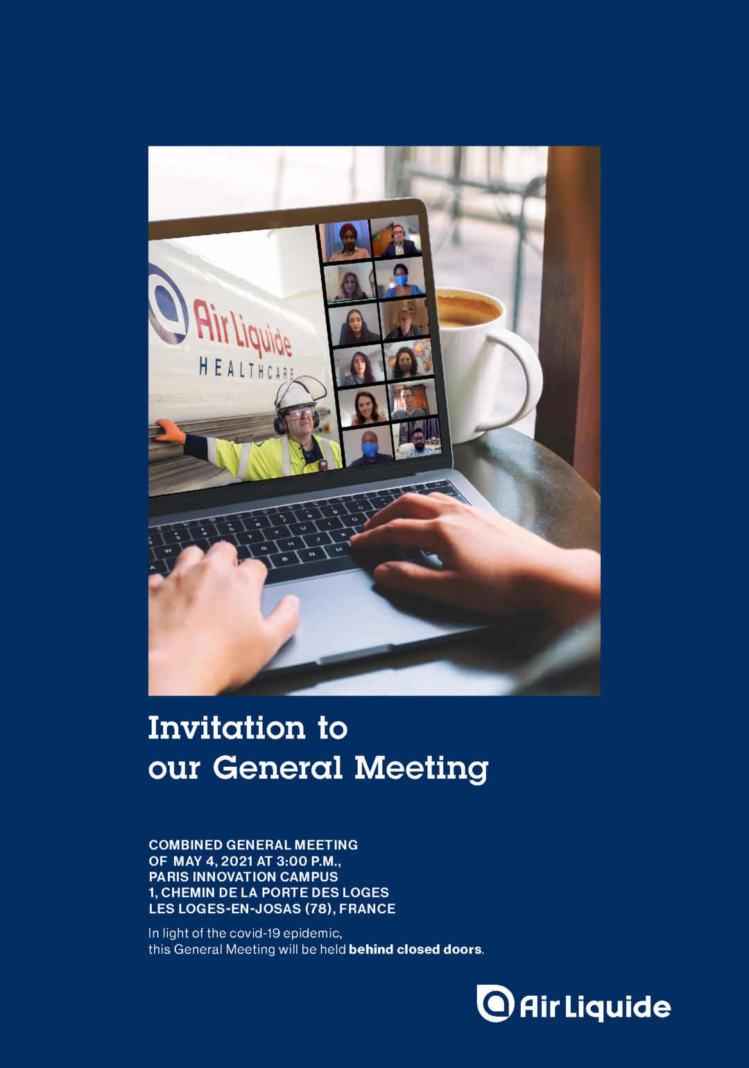 """Cover - """"Invitation to our General Meeting 2021"""""""